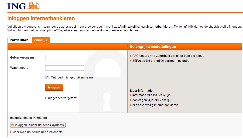 973 x 558 png 48kB, Mijn Ing Zakelijk Ing Internetbankieren | Share ...
